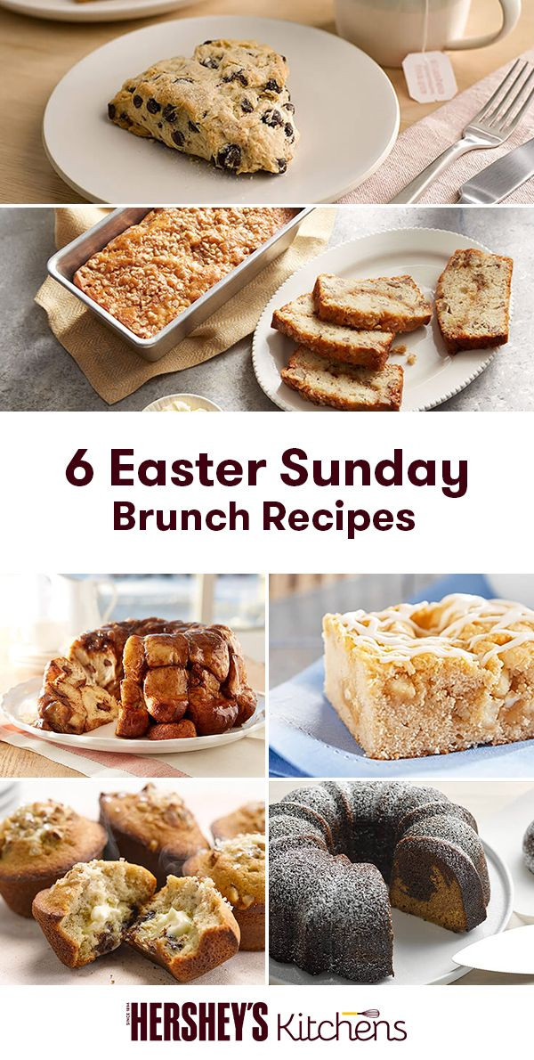 Easter Sunday calls for family brunch! Whether it's dark chocolate chip scones and coffee or quick sticky bread, find your perfect brunch dessert here!