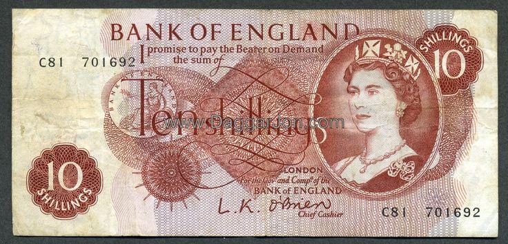 !0 shilling note, sadly long gone