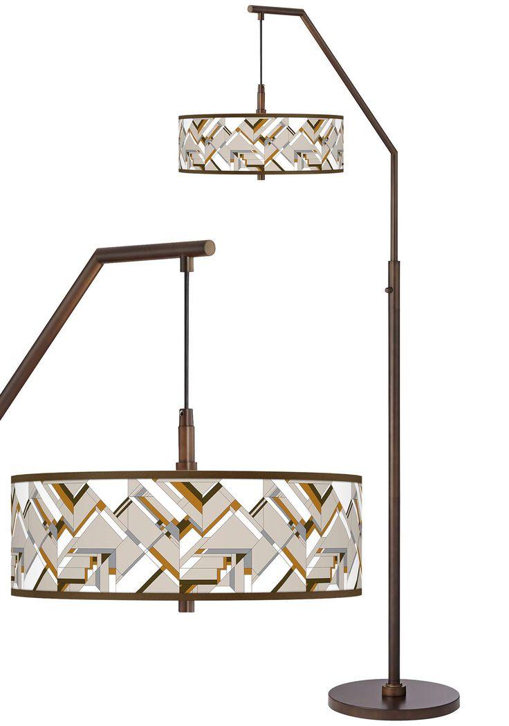 Floor Lamps Craftsman Mosaic Bronze Downbridge Arc Floor
