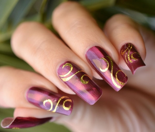 .purple and gold