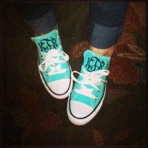Now I might wear these :)  Monogram Chucks