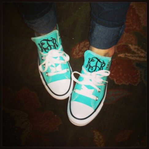 Now I might wear these :) Monogram Chucks