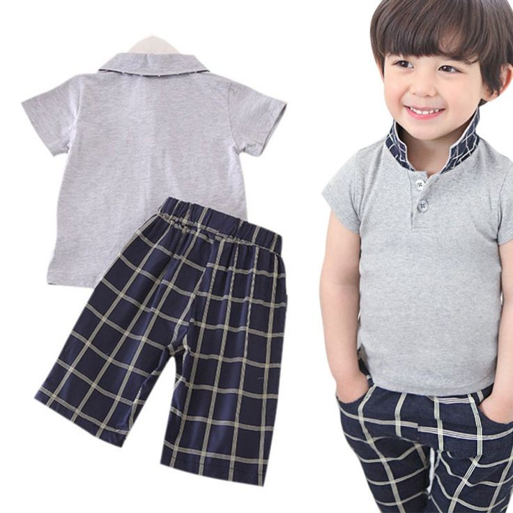 >> Click to Buy << Stylish Kids Baby Boys Outfits Sets T-Shirt Tops + Plaid Pants +Mustache Tie Clothing 2-6Y #Affiliate