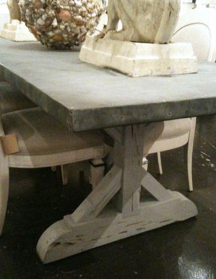 Aged zinc top table LLH DESIGNS: Zinc Top Dining Table - Best 25+ Zinc Table Ideas Only On Pinterest Concrete Table Top