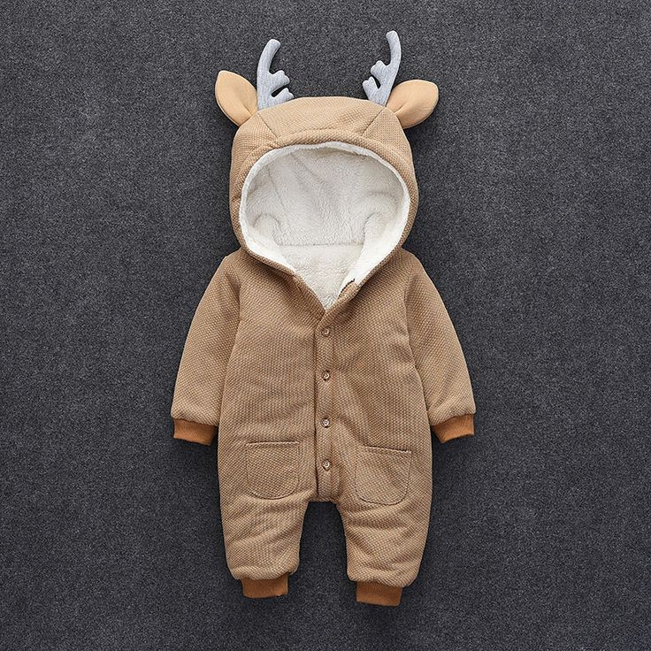 Victory! Check out my new Lovely Deer Fleece-lined Long Sleeve Jumpsuit for Baby, snagged at a crazy discounted price with the PatPat app.