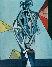 """Tadeusz Kantor - Man with Umbrella  """"A Man with an Umbrella"""", a composition, 1949, the National Museum in Warsaw"""