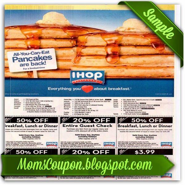 free printable Ihop coupons 20% 2015