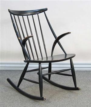 Køb og sælg moderne, klassiske og antikke møbler - Illum Wikkelsø. Gyngestol - DK, Aarhus, Egå Havvej