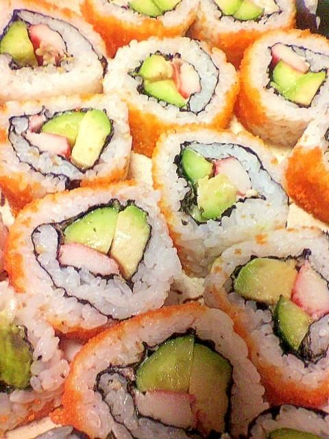 California Roll with Crab Sticks