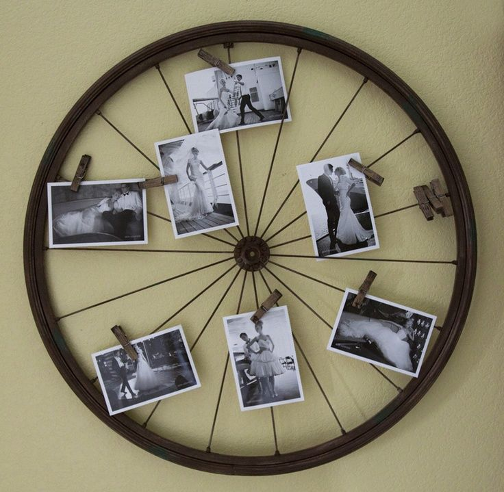Old Bike Wheels Reused