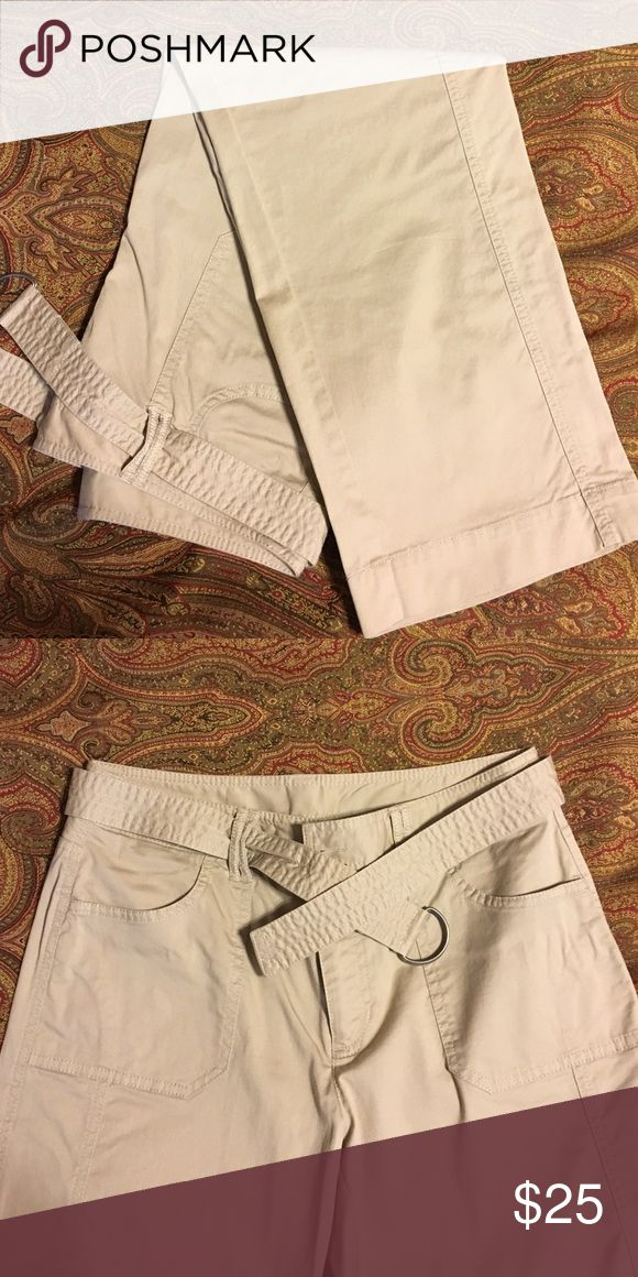 EUC Rafaella khakis Detachable belt, great cut and shape. Rafaella Pants Trousers