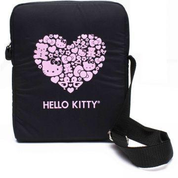 """Geanta Hello Kitty Pastel Neagra Tableta 10"""" - Huse"""