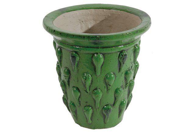 """7"""" Mediterranean Vase, Green"""