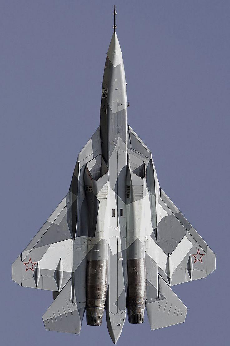 T-50: Caça russo de 5ª geração / Fabricante: Sukhoi