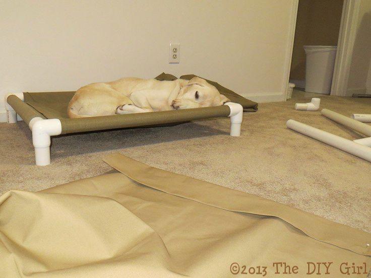 PVC Dog Cot Tutorial - TheDIYGirl.com