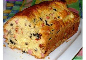 Αλμυρό κέικ με τυριά και ζαμπόν