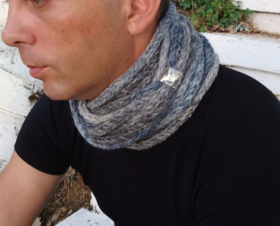 Scarf infinity scarf necklace Hand knitted  by PopisBOUTIQUE
