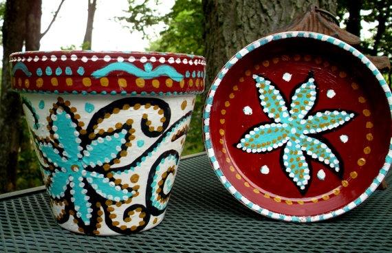 Painting idea for flower pots