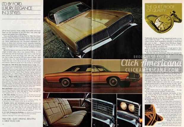 Ford car buyer's guide: Better ideas for '68