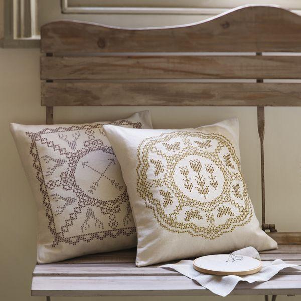 Image of Fanciful Flutterbies Cross Stitch Cushion Kit