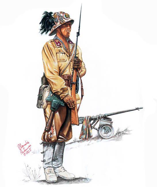 """Regio Esercito - Bersagliere, 7° Reggimento, Divisione Motorizzata """"Trento"""", El Alamein 1942-42"""