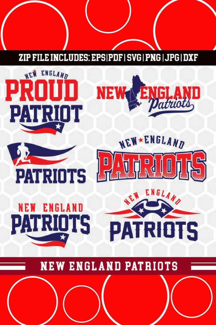 New England Patriots Svg American Football Nfl Football Team Logo Silhouette Studio Cameo Cricut T Shir New England Patriots New Patriots Nfl Football Teams