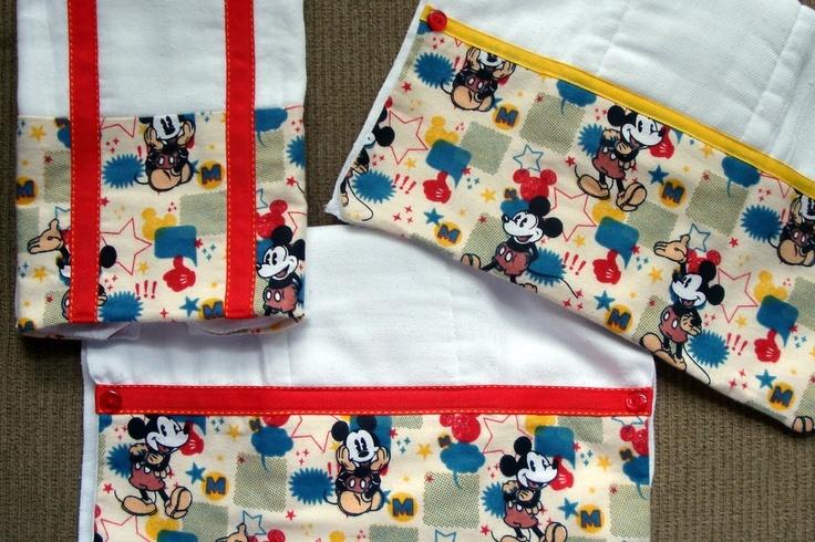 Mickey Burp Cloths