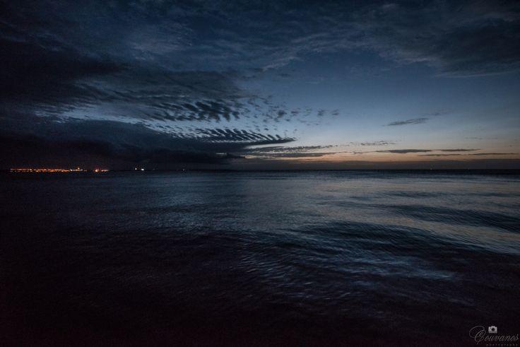 Sunrise in Larnaca beach - Cyprus.