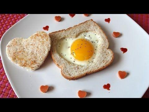 Desayuno de San Valentín – Pan Tostado y Huevo - Mi Cocina Rápida