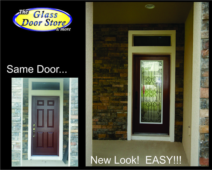 Wrought Iron Glass Door Inserts For Steel And Fiberglass Front Entry Doors.