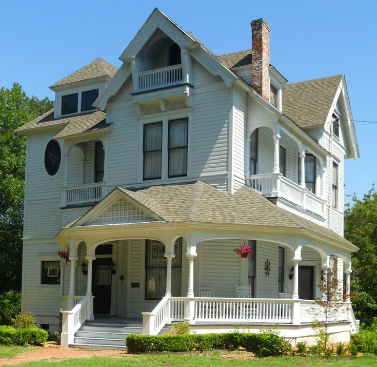 Love the solid color with just the inside of the window trim painted a different.  Victorian house color scheme idea.