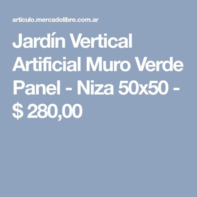 Jardín Vertical Artificial Muro Verde Panel - Niza 50x50 - $ 280,00