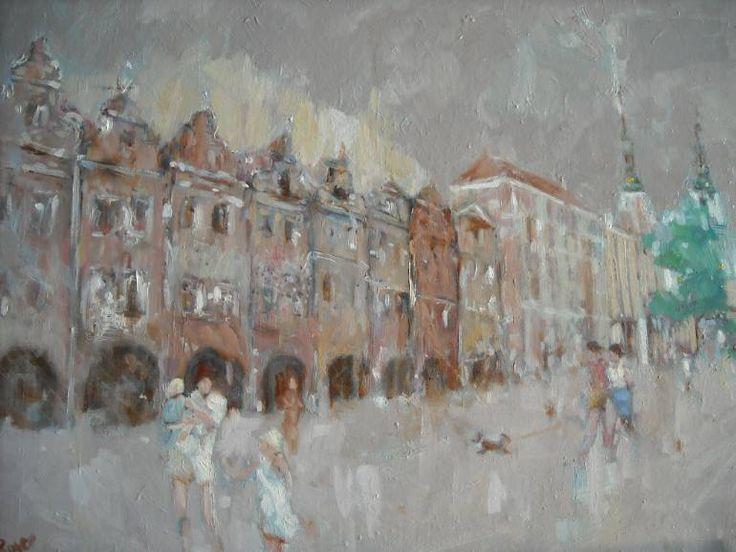 "Saatchi Art Artist Roger Piaskowski; Painting, ""Legnica old town"" #art"