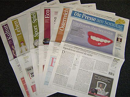Newspaper Designs - Die Presse am Sonntag