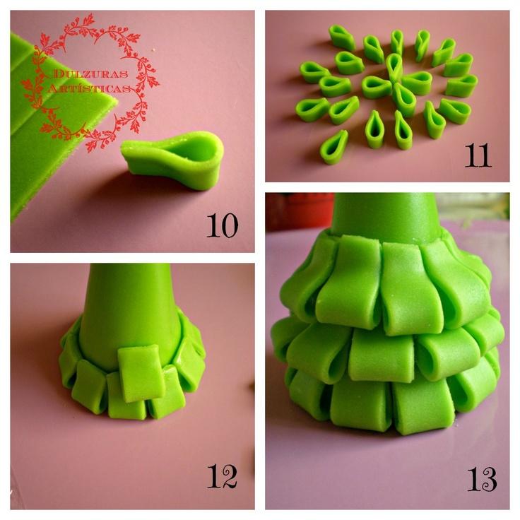 Dulzuras art sticas pap de como hacer un arbol de - Como hacer cosas para navidad ...