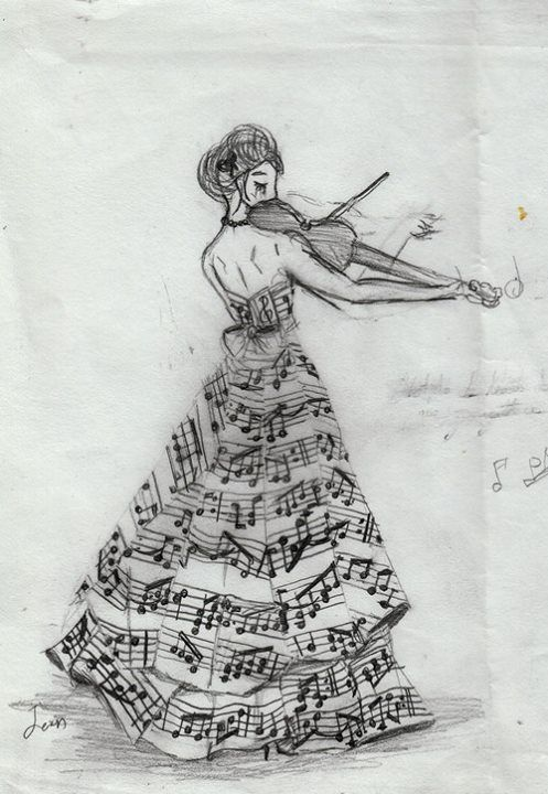 Interesting and beautiful sketches linked with music themes
