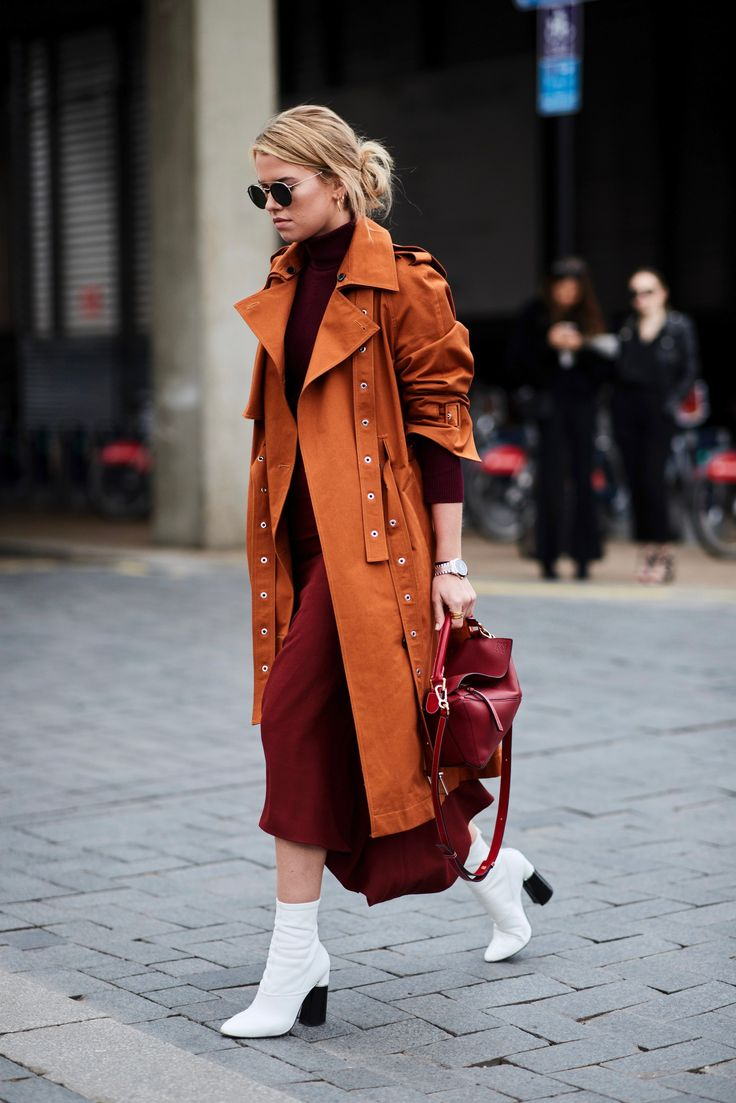 London Fashion Week Fall-Winter 2018 Street Style: A particularly beautiful combo …   – Übergangsoutfits für warmes Wetter