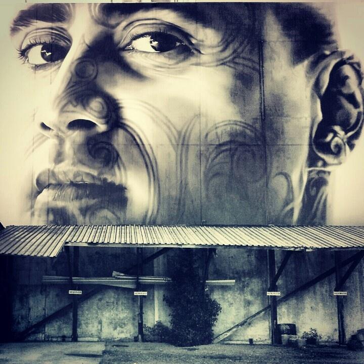 Tiki Taane stick up. Newmarket, Auckland City