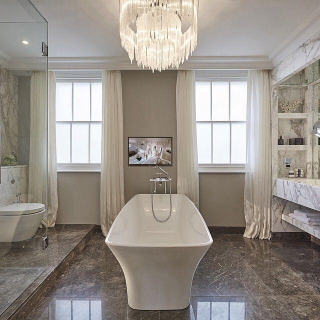 gordijnen in de badkamer - badkamer ideeën | pinterest, Deco ideeën