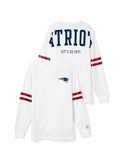 New England Patriots Bling Varsity Crew PINK