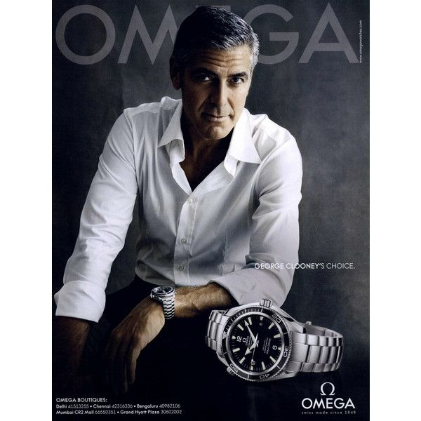 Omega Ad Campaign 2008-2011 Shot #14 - MyFDB found on Polyvore featuring ad campaign and george clooney