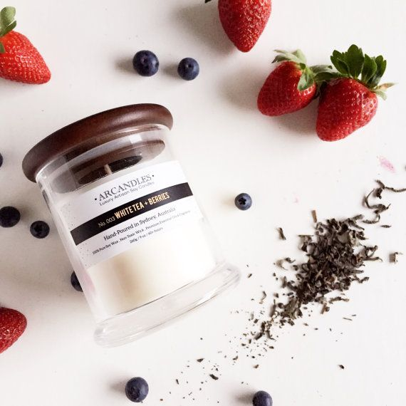 White tea and berries scented candle  - $22 from kargow.com