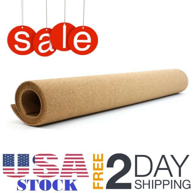 U Brands Natural Craft Cork Roll, 24 X 48 Inches for Drawer or Shelf Liners NEW