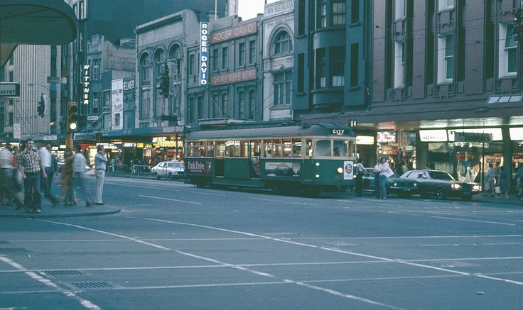 Bourke & Swanston Streets, Melbourne 1970s