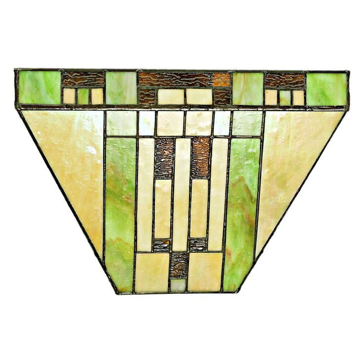 River Of Goods Stained Glass Cactus 15049S LED Wireless Wall Sconce   15049S