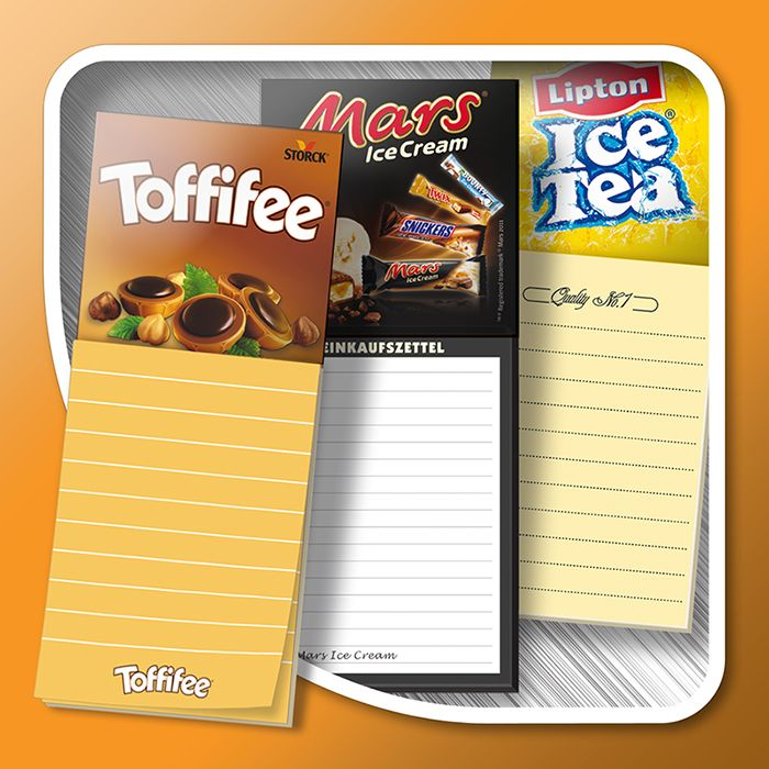 Magnetic notepads (standard shapes)