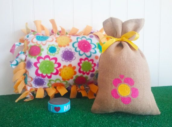LOOTBAG  Fleece Tied Pillow Rectangular party by theLootBagBarn
