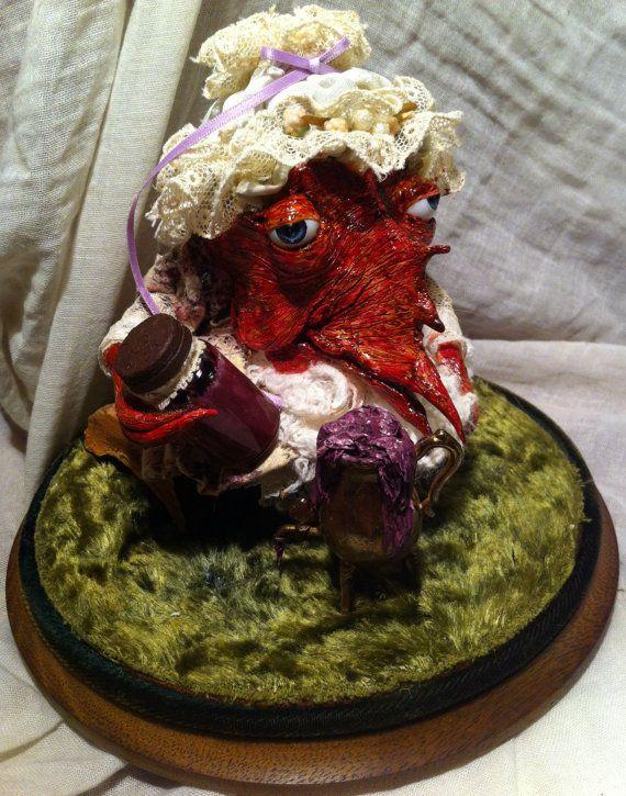 Handmade Creature Sculpture. 'Grethel The by CuriousOdditiesShop
