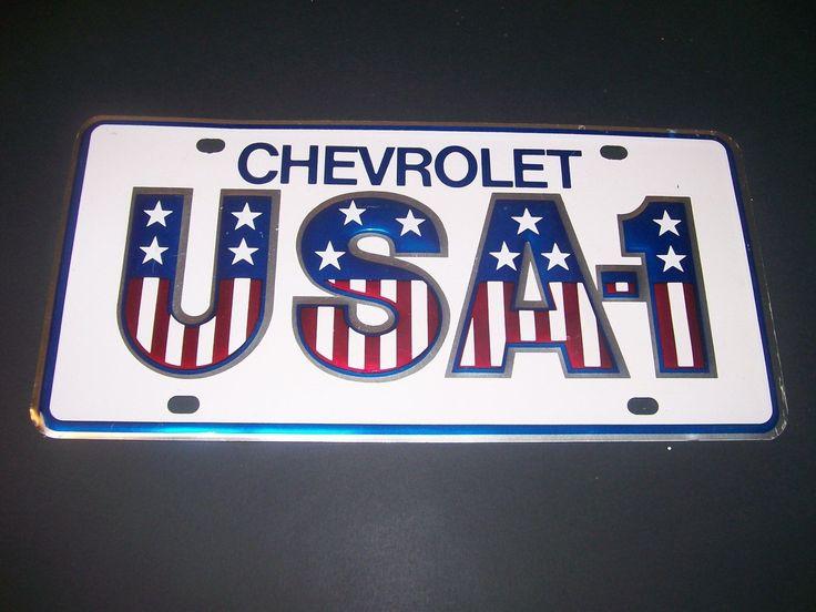 Chevrolet Usa-1 Dealer Licence Plate