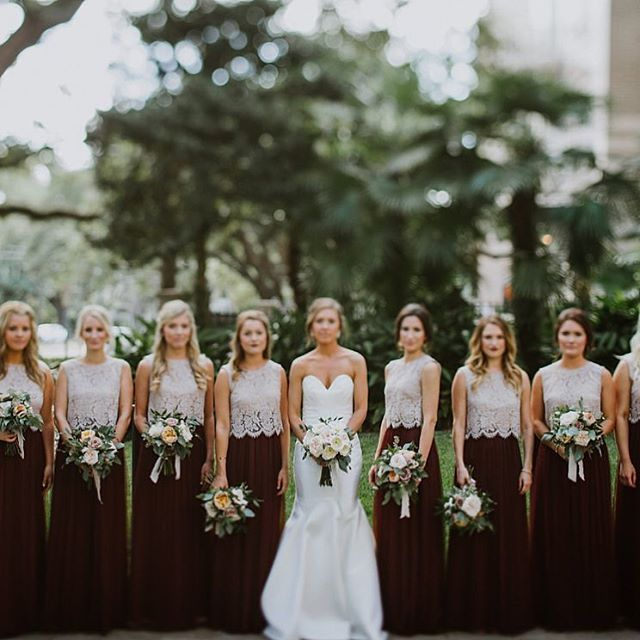 Yes! to lace crop tops and tulle skirts!! Cleo Topper #jyccleo paired with Louise Skirts in Cabernet #jyclouise exclusive for @BHLDN #jycseparates | photo by @kristensoileauportraits